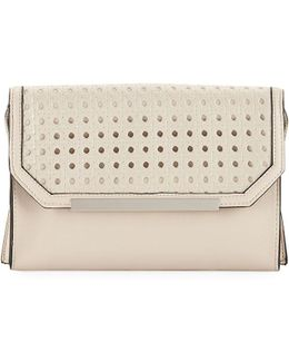 Karen Basketweave-flap Clutch Bag