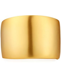 Thick Satin-finished Golden Cuff