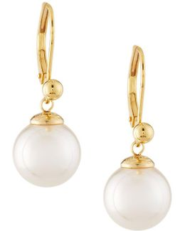 18-karat Yellow Gold Vermeil Pearl Drop Earrings
