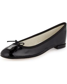 Patent Leather Ballerina Flat With Bow