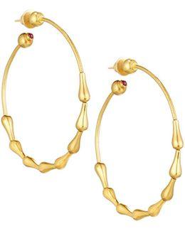Delicate 24k Classic Wave Hoop Earrings