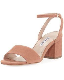Bristol Suede Ankle-wrap Sandal