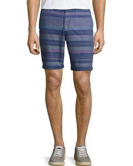Dobby Striped Neon Shorts