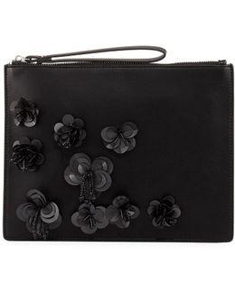 Lara Embellished Wristlet Clutch Bag