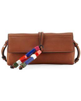 Ace Bead-tassel Crossbody Clutch Bag