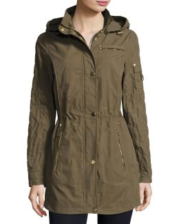 Brushed Cotton Anorak Jacket