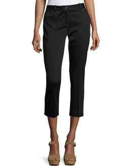 Miranda Crepe Cropped Ankle Pant