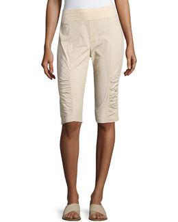 Tatem Ruched Poplin Shorts