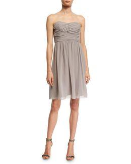 Sarah Bustier Georgette Dress