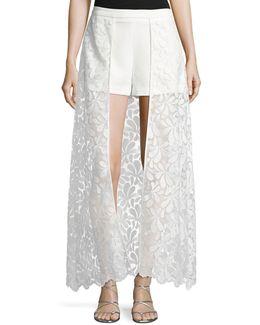 Oriane Shorts W/ Petal Lace Skirt