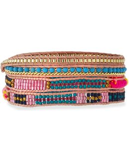 Woven & Beaded Wrap Bracelet
