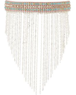 Beaded Choker W/ Chain Fringe