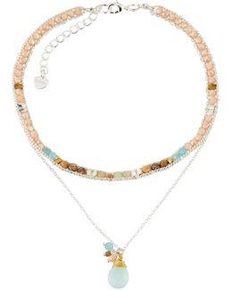 Layered Beaded Choker Necklace