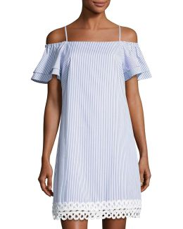 Off-the-shoulder Popover Dress