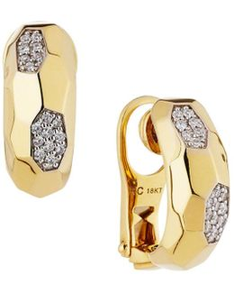 Martellato 18k Diamond Half-hoop Earrings