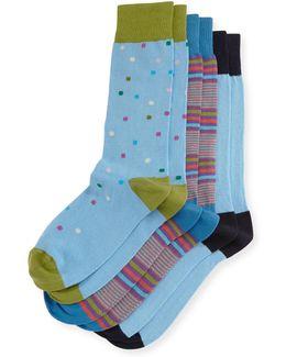 Three-pair Graphic Sock Set
