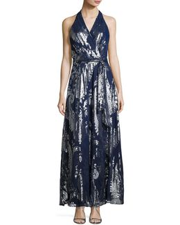 Belted Paisley-print Maxi Dress