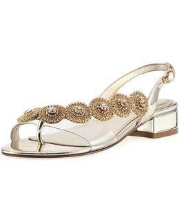 Daisy Embellished Flat Sandal