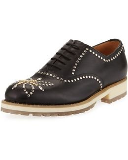 Studded Leather Oxford
