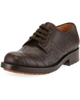 Embossed Leather Oxford