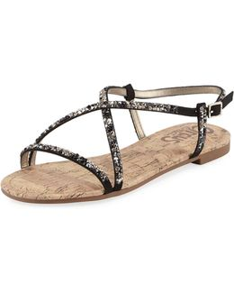 Hilary Crystal-embellished Slingback Sandal