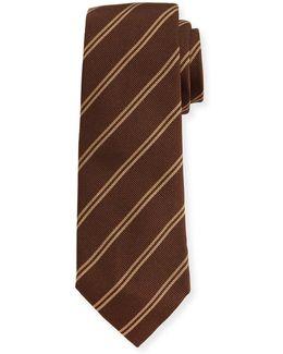 Track-stripe Silk Tie