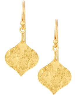 Clove Flake 24k Drop Earrings