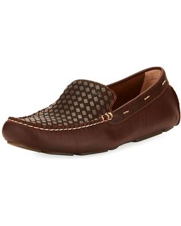 Augustine Woven Leather Loafer