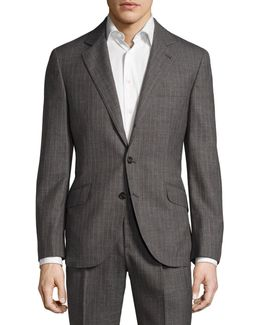 Pinstriped Classic-fit Two-piece Suit