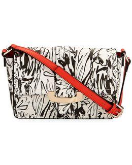 Ellen Floral-print Crossbody Bag
