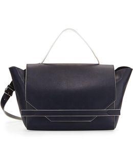 Cynthia Faux-leather Satchel Bag