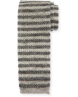 Linen Knit Striped Tie