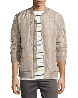 Race Quilted Zip-front Jacket