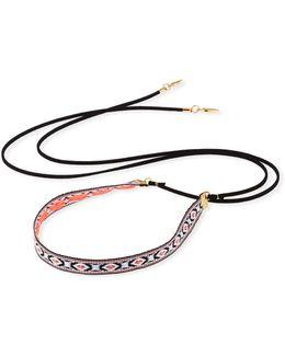 Woven Wraparound Choker Lariat Necklace