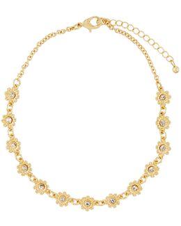 Flower Crystal Choker Necklace