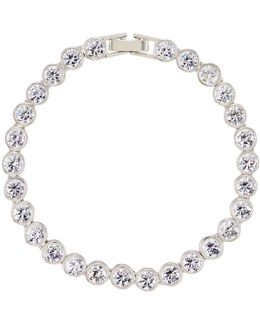 Bezel-set Crystal Tennis Bracelet