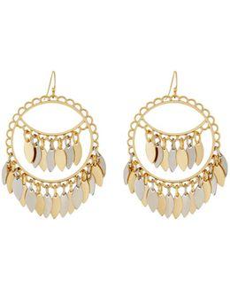 Two-tone Shakey Drop Earrings
