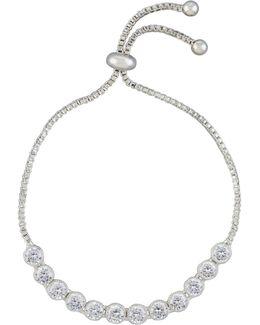 Adjustable Pull-tie Cz Bracelet