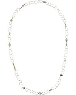 Long Mixed Pearl Chain Necklace
