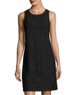 Palm Lace Shift Dress