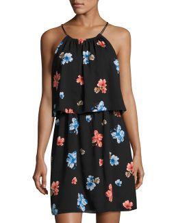 Floral Delight Halter Dress