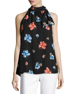 Floral-print Sleeveless Top