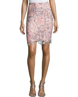 Carolina Lace-overlay Skirt