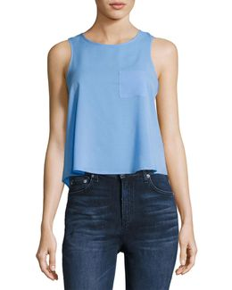 Polly Plains Sleeveless Crop Tank Top