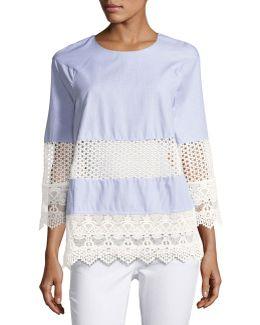Kyra Cotton Lace Crochet Tunic