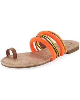 Helen Braided Toe-ring Sandal