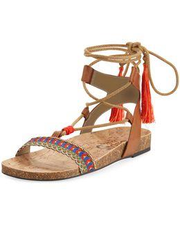 Kerri Low Ankle-wrap Sandal