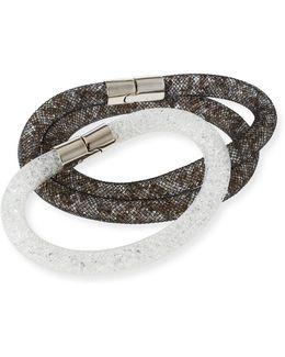 Stardust Convertible Crystal Mesh Bracelet/choker Set