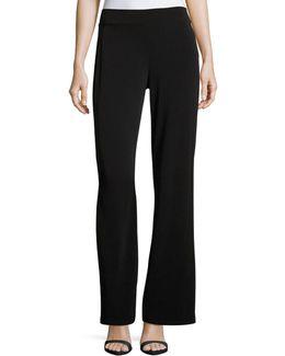 Wide-leg Side-zip Pants