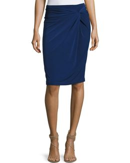 Front-twist Pencil Skirt
